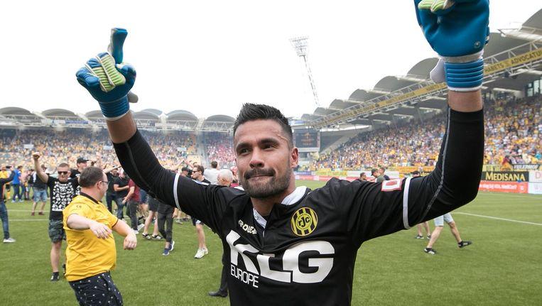 De 25-jarige keeper, die afgelopen seizoen opviel in het doel van Roda JC, wordt in Amsterdam tweede doelman achter Andre Onana. Beeld anp