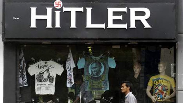De vroegere winkel 'Hitler' in Ahmedabad. Beeld EPA
