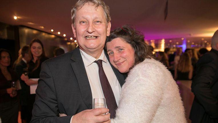Burgemeester Van der Laan en oud-directeur Amsterdam Gay Pride Irene Hemelaar. Beeld Amaury Miller