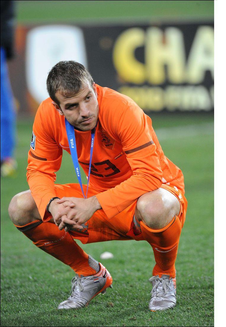 Van der Vaart na verloren finale tegen Spanje.
