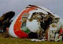 De cockpit van het gecrashte vliegtuig op de luchthaven van Faro in 1992.