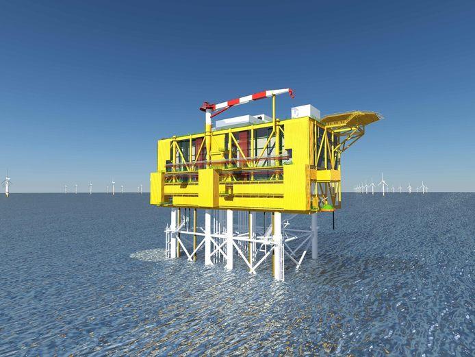 Het platform van Iv-Groep uit Papendrecht zet de gewonnen energie om in gelijkstroom, waardoor het beter getransporteerd kan worden.