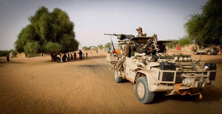 Nederlandse commando's in Bakal in 2014.  Beeld ANP
