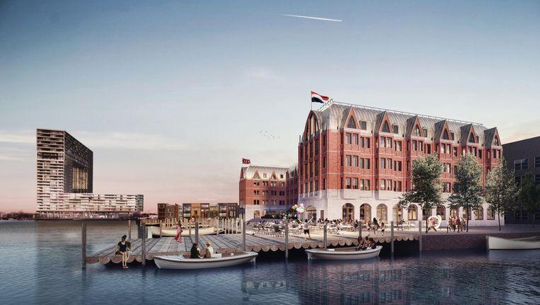 Impressie van shortstayhotel Boot & Co in de Houthavens. Beeld IQN Architecten