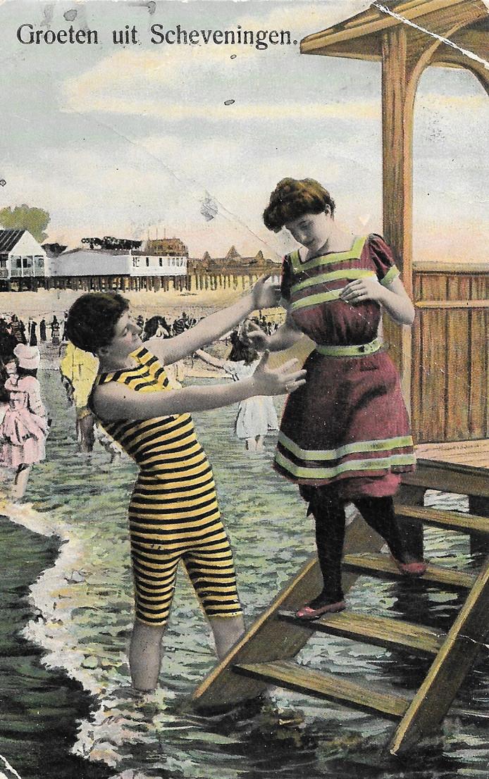 Ingekleurde ansichtkaart uit 1912.