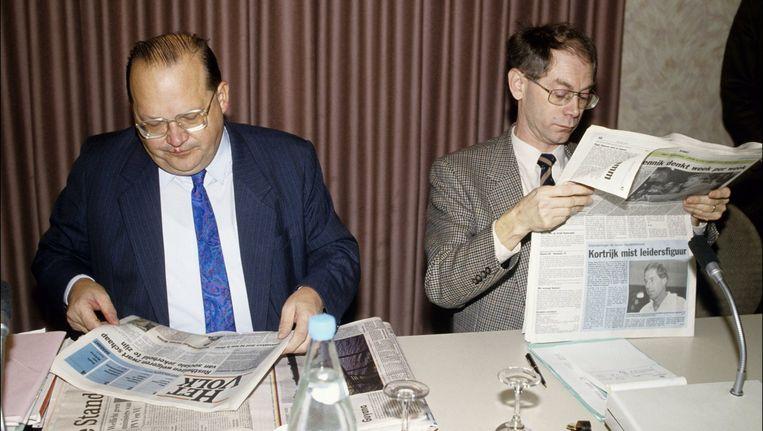 Uit de oude doos: Jean-Luc Dehaene met naast hem Herman Van Rompuy