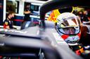 Max Verstappen voor de vrije trainingen, waar hij de derde en de vierde tijd reed.