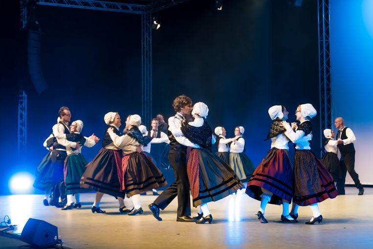 De Izegemse groep Die Boose op het Wereldfestival.