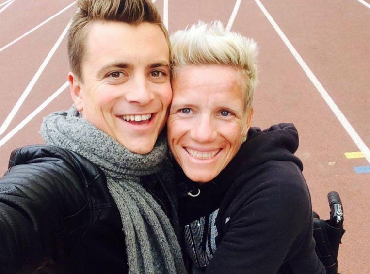 Niels Destadsbader deelde een foto met Marieke Vervoort.