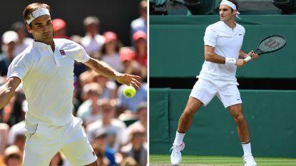 Geen vuiltje aan de lucht voor Federer in eerste ronde, en dus wordt vooral nagekaart over zijn Wimbledon-outfit