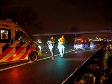 Ravage door ongeluk op A59 bij Sprang-Capelle