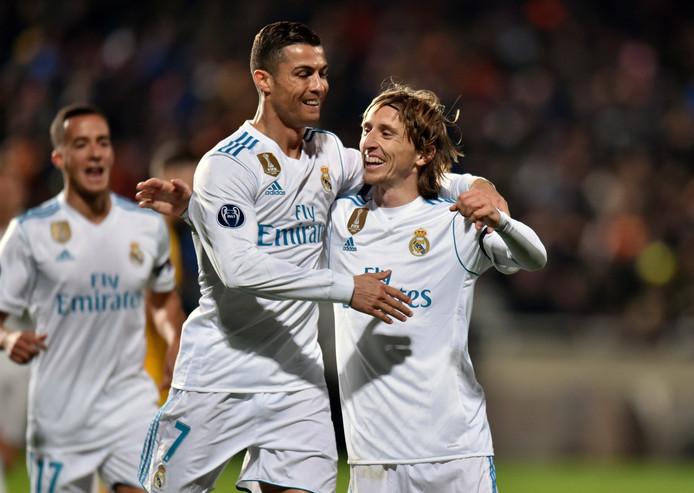 Luka Modric en Cristiano Ronaldo.