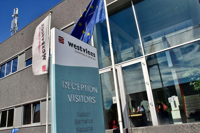 De inkomhal van Westvlees in Westrozebeke.