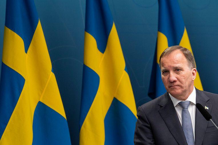 De Zweedse premier Stefan Lofven. Beeld AFP
