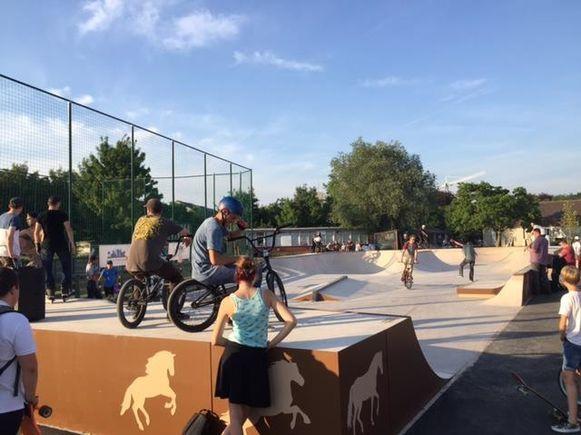 Het skatepark in Waregem