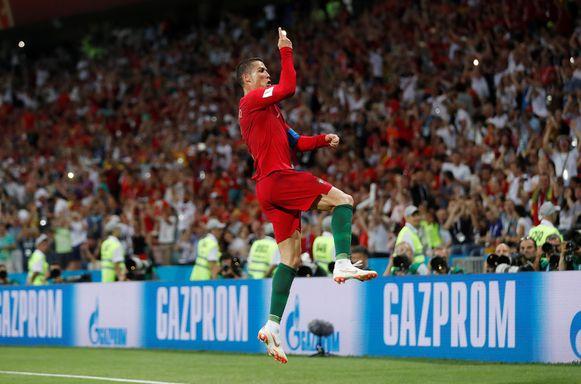 4' Cristiano Ronaldo viert na de vroege 1-0.