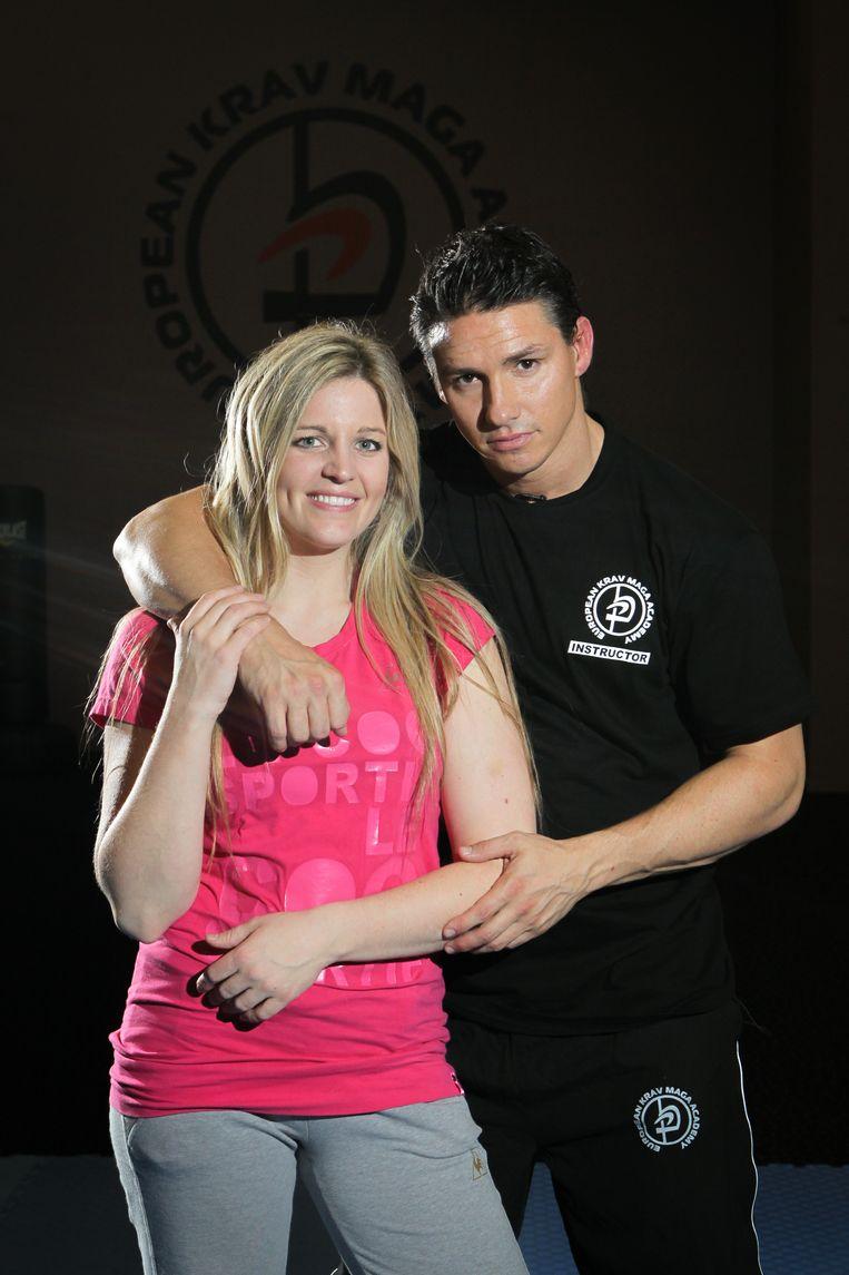 Eveline Hoste en haar man Bjorn De Wilde in 2012.