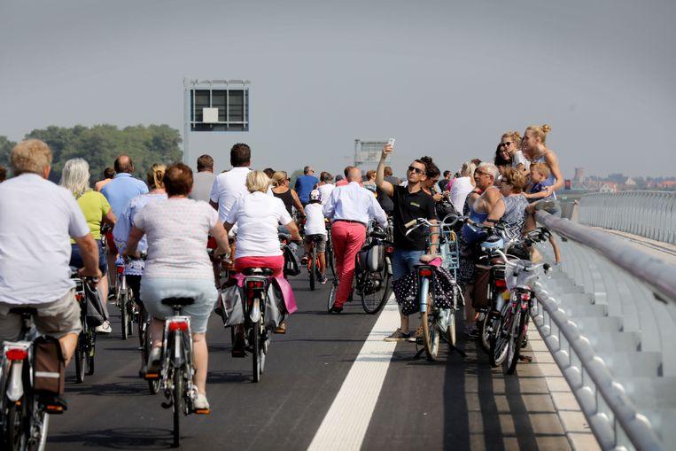 Fietsers op de fietsring FR30.