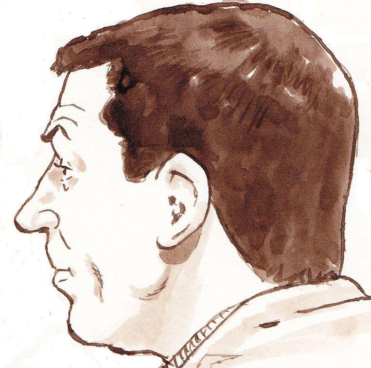 Verdachte Dino S. in de rechtbank Schiphol-Oost. Beeld anp