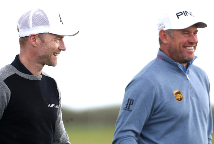 Lee Westwood en Ronan Keating.