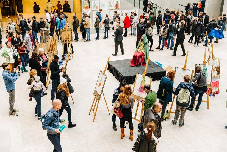 Het hele weekend zijn er gratis workshops te volgen in het museum Beeld Bibi Veth
