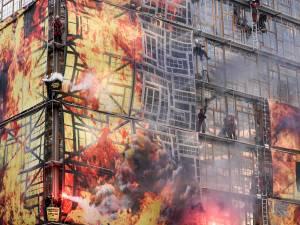 "Greenpeace ""met le feu"" au Conseil européen"