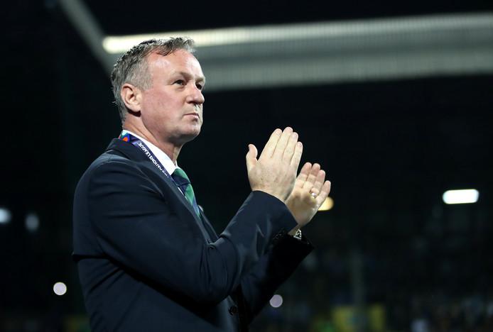 Michael O'Neill als bondscoach van Noord-Ierland.