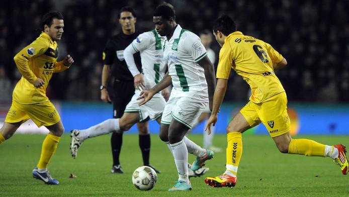 Zeefuik in één van zijn laatste duels voor FC Groningen.