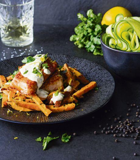 Wat Eten We Vandaag: Pangasiusfilet met zoete-aardappelfrietjes