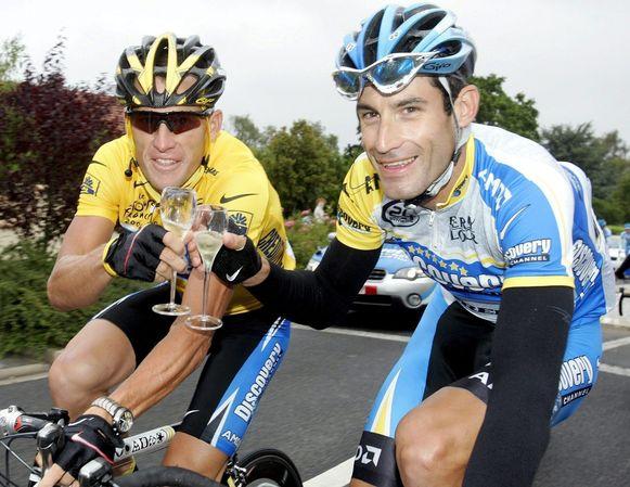 Armstrong en Hincapie.