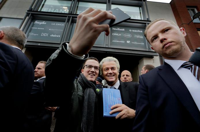 Geert Wilders was in 2016 ook al eens in Dordrecht.