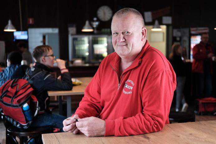 Wim Smees, in 2016 clubheld van Gelderland, in de kantine van 'zijn' AZSV.