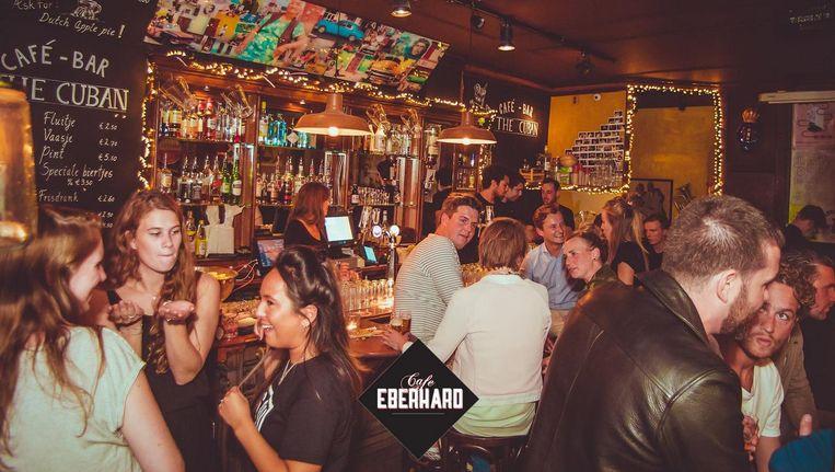 Café Eberhard tijdens de openingsavond afgelopen maandag Beeld Café Eberhard