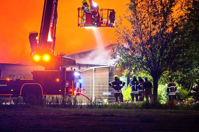 De oude winkel van Bas van Zessen in Brandwijk brandde in juli 2019 tot de grond toe af.