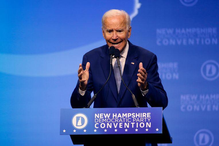 Joe Biden, koploper bij de Democraten, wil niet polariseren. Beeld AP