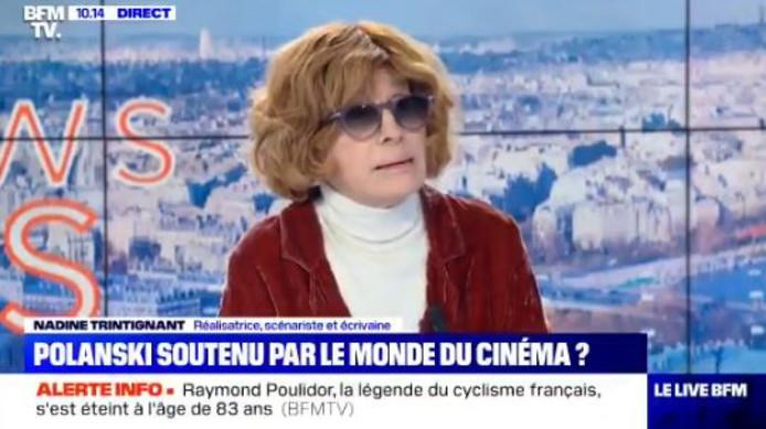 Nadine Trintignant soutient Roman Polanski