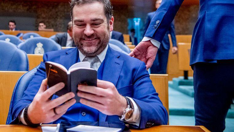 Klaas Dijkhoff tijdens klimaatdebat Beeld ANP