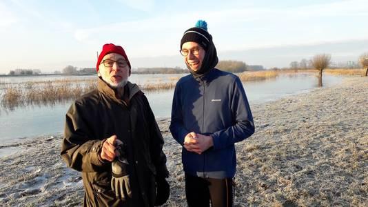 Twee Wageningse schaatshelden: Leffert Oldenkamp en Maarten de Zeeuw