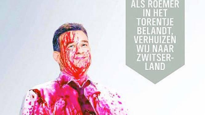 Ophef in Nederland over horrorposter met Emile Roemer (SP)