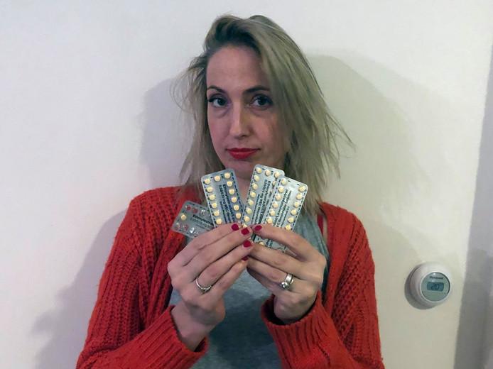 Chantal kreeg na een oproep op Twitter 40 strips anticonceptiepillen.