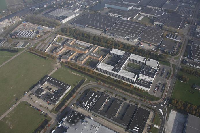 De gevangenis vanuit de lucht gezien