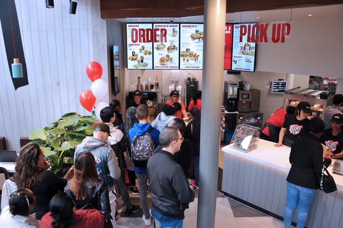 De KFC in Dordrecht is dinsdagmorgen geopend.