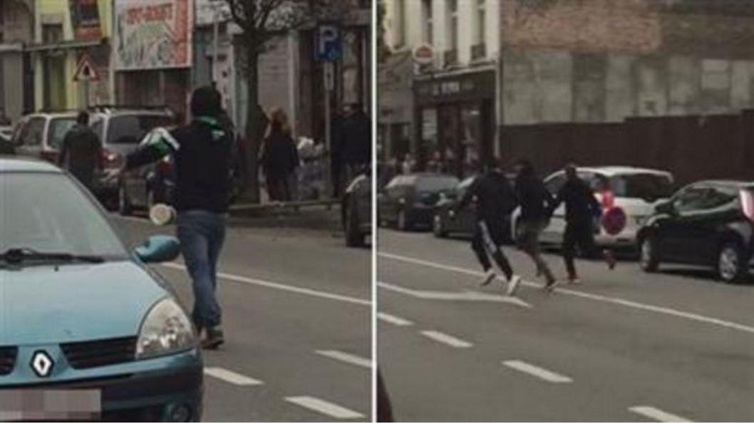 Screenshot van video van de vechtpartij.