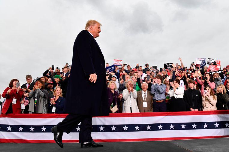 President Donald Trump voerde gisteren campagne in Huntington (West-Virginia).