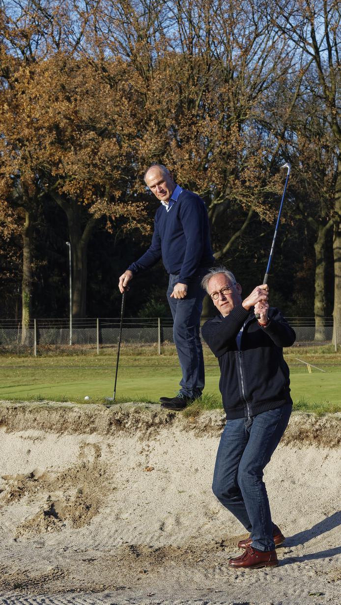 Jan Timmers (vooraan) en Peter de Kubber.