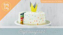 Van deze taart word je instant gelukkig: de regenboogtaart