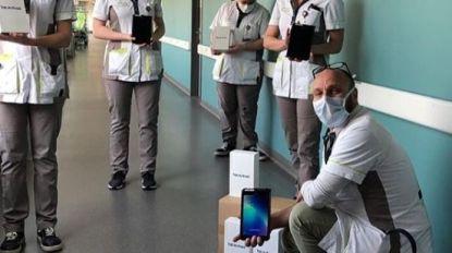 Simon Mignolet schenkt tablets aan ziekenhuis in het 'zwaar getroffen' Sint-Truiden