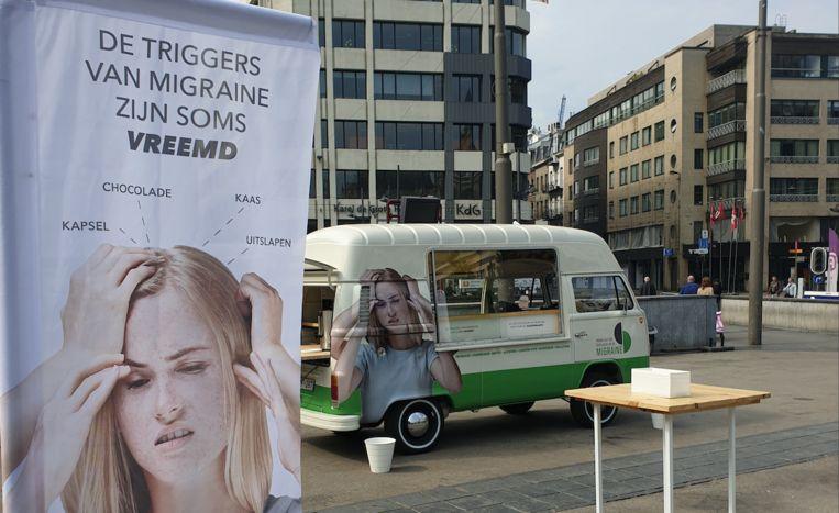 De 'foodtruck' geeft info over migraine.