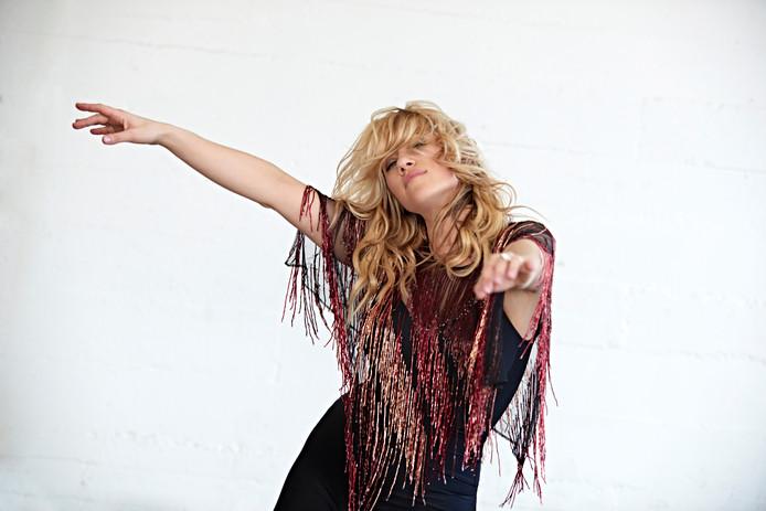 De Brits/Amerikaanse zangeres Lucy Woodward