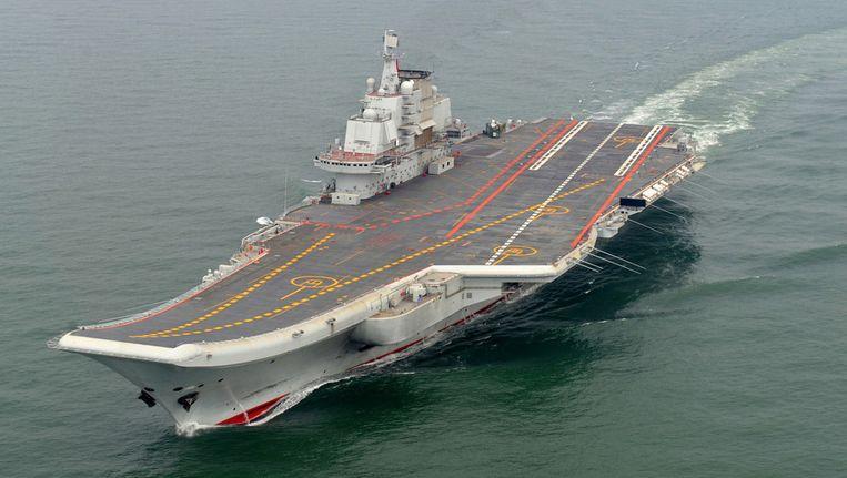 Het Chinese vliegdekschip Liaoning. Beeld ap
